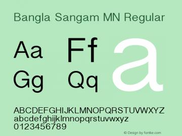 Bangla Sangam MN Regular Version 1.000 2003 initial release Font Sample