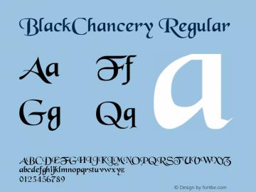 BlackChancery Regular Converted from c:\BLACKCHA.TF1 by ALLTYPE Font Sample