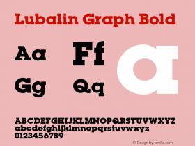 Lubalin Graph Bold Altsys Fontographer 3.5  11/25/92 Font Sample