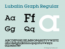 Lubalin Graph Regular Altsys Fontographer 3.5  11/25/92 Font Sample