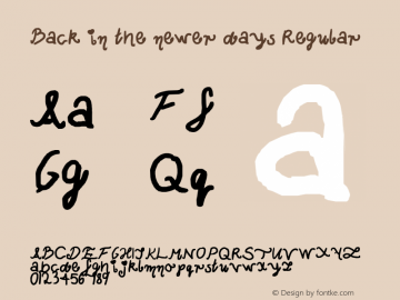 Back in the newer days Regular Lanier My Font Tool for Tablet PC 1.0 Font Sample