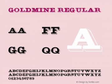 GoldMine Regular v1.0c Font Sample
