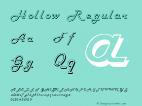 Hollow Regular v1.0c Font Sample