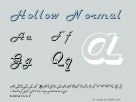 Hollow Normal 1.0 Sat Dec 05 16:07:07 1992 Font Sample