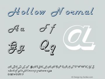 Hollow Normal 1.0 Sat Dec 05 16:07:07 1992 Font Sample