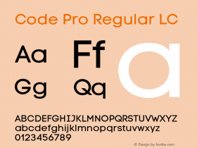 Code Pro Regular LC Version 1.003 Font Sample