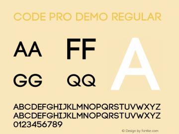 Code Pro Demo Regular Version 1.0 Font Sample