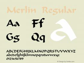 Merlin Regular v1.0c Font Sample