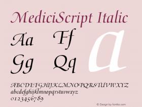 MediciScript Italic Converter: Windows Type 1 Installer V1.0d.