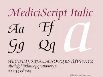 MediciScript Italic Converter: Windows Type 1 Installer V1.0d.