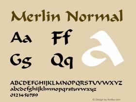 Merlin Normal 1.0 Sat Dec 05 16:34:23 1992 Font Sample