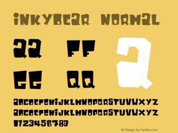 InkyBear Normal 1.0 Sun Jan 05 17:19:20 1997 Font Sample