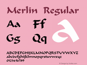 Merlin Regular 001.003 Font Sample