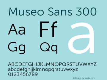Museo Sans 300 1.000 Font Sample