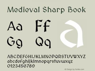 Medieval Sharp Book Version 2.001 Font Sample