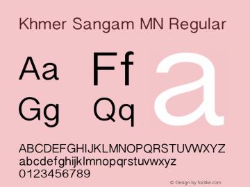 Khmer Sangam MN Font,KhmerSangamMN Font|Khmer Sangam MN 9 0d1e1 Font