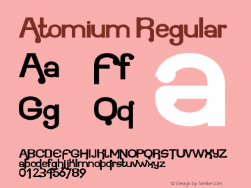 Atomium Regular Version 1.00 August 28, 2011, initial release Font Sample