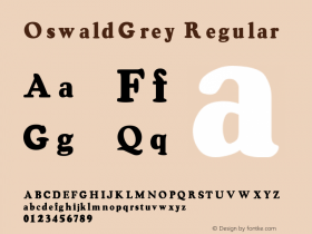 OswaldGrey Regular Converted from e:\aff07\OSWALD.FF1 by ALLTYPE Font Sample