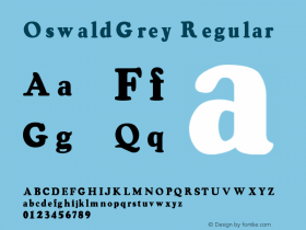 OswaldGrey Regular Converted from F:\TTF\OSWALDG_.TF1 by ALLTYPE Font Sample