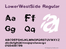 LowerWestSide Regular Converted from e:\aff07\LOWERW.FF1 by ALLTYPE图片样张