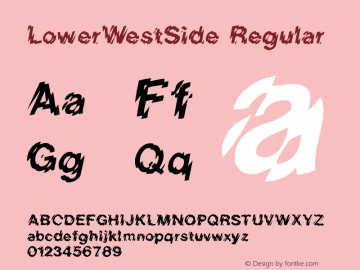 LowerWestSide Regular Converted from C:\WIN\SYSTEM\LOWERWES.TF1 by ALLTYPE图片样张