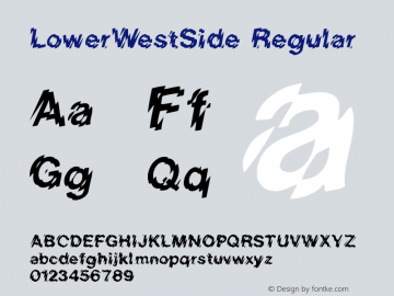 LowerWestSide Regular Converted from C:\TRUETYPE\LOWERWES.TF1 by ALLTYPE图片样张