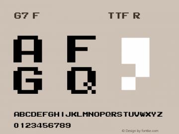 G7 Flappy for famicom TTF Font G7 Flappy for famicom TTF F1 00 Font
