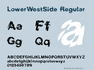 LowerWestSide Regular Converted from D:\FONTTEMP\LOWERWES.TF1 by ALLTYPE图片样张