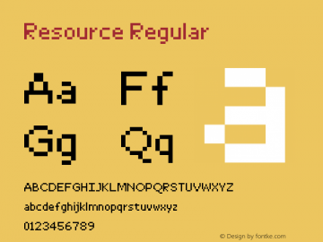 Resource Regular Version 1.0图片样张