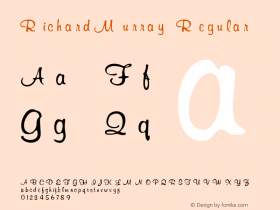 RichardMurray Regular Altsys Fontographer 3.5  7/6/93 Font Sample
