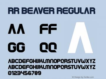 RR Beaver Regular Version 1.000图片样张