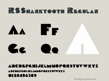 RSSharktooth Regular Converted from f:\x\RSSHARK.TF1 by ALLTYPE Font Sample