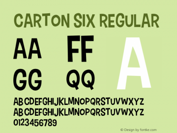 Carton Six Font,CartonSix Font|Carton Six v1 1 - 1/7/2012