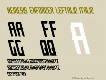 Nemesis Enforcer Leftalic Italic 001.000图片样张