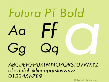 Futura PT Bold Version 1.007;com.myfonts.easy.paratype.futura-book.italic.wfkit2.version.43Wa Font Sample