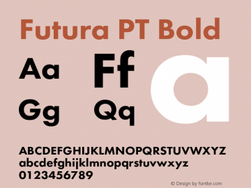 Futura PT Bold Version 1.007;com.myfonts.easy.paratype.futura-book.heavy.wfkit2.version.43VU Font Sample