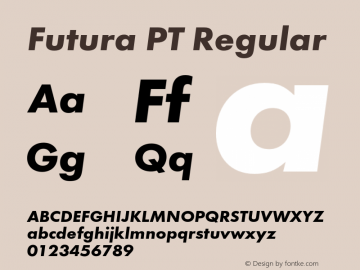 Futura PT Regular Version 1.007;com.myfonts.easy.paratype.futura-book.bold-obl.wfkit2.version.43We Font Sample