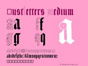 JustLetters Medium Version 001.000 Font Sample
