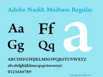 Adobe Naskh Medium Download