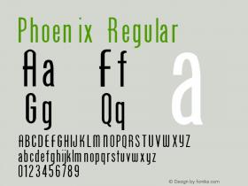Phoenix Regular Converted from F:\TTF\PHOENIX_.TF1 by ALLTYPE Font Sample