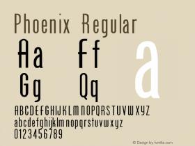 Phoenix Regular Altsys Fontographer 3.5  3/8/92 Font Sample