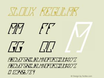 Sloux Regular Version 1.000 2012 initial release图片样张