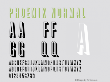 Phoenix Normal Altsys Fontographer 4.1 2/2/95 Font Sample