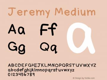 Jeremy Medium Version 001.000图片样张