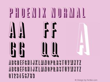 Phoenix Normal Altsys Fontographer 4.1 11/3/95 Font Sample