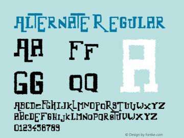 Alternate Regular Version 1.00 December 26, 2011, initial release图片样张