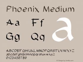 Phoenix Medium Version 001.000 Font Sample