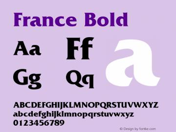 France Bold v1.0c Font Sample