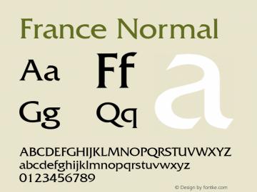 France Normal 1.0 Wed Nov 18 01:05:54 1992 Font Sample