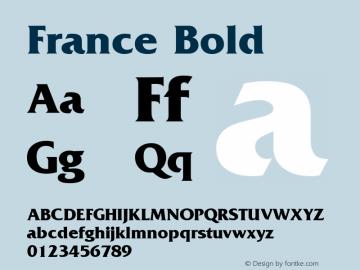 France Bold 1.0 Wed Nov 18 01:04:08 1992 Font Sample